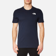 The North Face Men's Short Sleeve Simple Dome T-Shirt - Urban Navy/TNF White