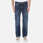 Edwin Men's ED-80 Slim Tapered Red Listed Selvedge Denim Jeans - Contrast Clean Wash