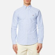 Polo Ralph Lauren Men's Slim Fit Bengal Stripe Oxford Shirt - Blue/White