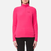 Jack Wolfskin Women's Gecko Half Zip Fleece - Tropic Pink
