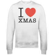 I Heart Xmas Christmas Sweatshirt - White