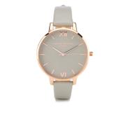 Olivia Burton Women's Big Dial Grey and Rose Gold Watch - Rose Gold