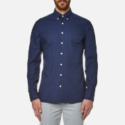 Hackett London Men's Garment Dyed Oxford Shirt - Washed Navy