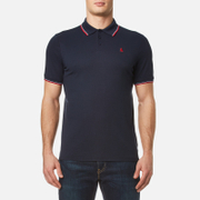 MUSTO Men's Miles Tipped Polo Shirt - True Navy