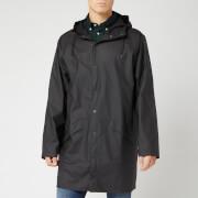 RAINS Men's Long Jacket - Black