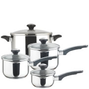 Prestige Everyday Stainless Steel Straining 4 Piece Pan Set
