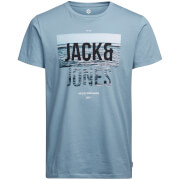 Jack & Jones Men's Core Poster T-Shirt - Blue