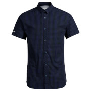 Jack & Jones Men's Core Day Check Short Sleeve Shirt - Navy