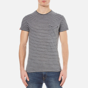 Superdry Men's Lite Loomed Pocket Striped Short Sleeve T-Shirt - Flint Grey Grit/Optic