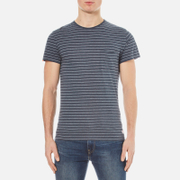 Superdry Men's Lite Loomed Pocket Striped Short Sleeve T-Shirt - Nautical Navy Grit/Pearl Grey Grit