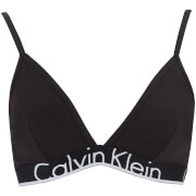 Calvin Klein Women's Thick Band Triangle Underlined Bra - Black