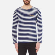 Maison Labiche Men's Bad Boy Breton Top - Blue and White