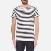 Maison Labiche Men's Rebel Rebel Breton T-Shirt - Ivory And Blue