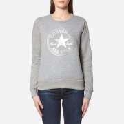 Converse Women's Metallic Chuck Patch Sweatshirt - Vintage Grey Heather