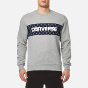 Converse Men's Dots Pattern Crew Sweatshirt - Vintage Grey Heather