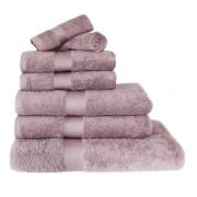 Restmor 100% Egyptian Cotton 7 Piece Luxury Towel Bale (600GSM) - Mauve