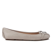 MICHAEL MICHAEL KORS Women's Fulton Leather Ballet Flats - Pearl Grey