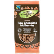 The Raw Chocolate Company Organic Raw Chocolate Mulberries Snack Pack - 28g (Pack of 12)