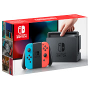 Nintendo Switch with Neon Blue / Neon Red Joy-Con Con Controllers