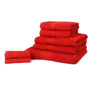 Restmor 100% Cotton 7 Piece Towel Bale (450 GSM) - Red