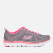 Skechers Women's Flex Appeal 2.0 Simplistic Trainers - Grey/Pink