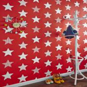 Superfresco Easy Kids' Superstar Star Print Red Wallpaper