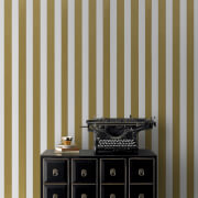 Graham & Brown Gold/White Metallic Stripe Wallpaper
