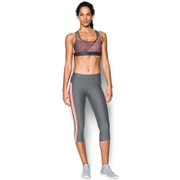Under Armour Women's Crossback Embossed Sports Bra - Charcoal