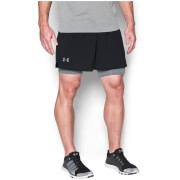Under Armours Men's Qualifier 2 in 1 Shorts - Black/Steel