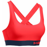 Under Armour Women's Mid-Crossback Sports Bra - Pomegranate