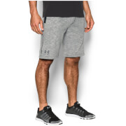 Under Armour Men's Sportstyle Camo Fleece Shorts - Black/Graphite