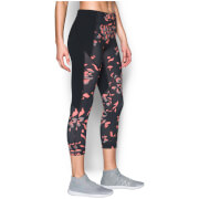 Under Armour Women's Mirror Printed Crop Studio Tights - Black