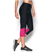 Under Armour Women's Fly-By Run Capri Tights - Black/Tropic Pink