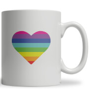 Rainbow Heart Ceramic Mug