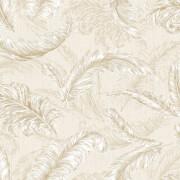 Julien MacDonald Glitter Gilded Feather Cream/Gold Wallpaper