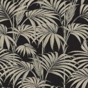 Julien MacDonald Honolulu Glitter Palm Print Black Gold Wallpaper