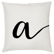 Alphabet Script Cushion (45x45cm)