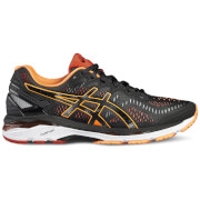 Asics Men's Gel Kayano 23 Running Shoes - Black/Hot Orange