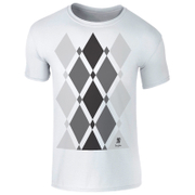 Men's Begbie Grey Pattern T-Shirt - White