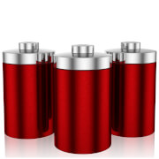 Swan Set of 3 Storage Canisters - Red