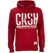 Crosshatch Herren Birchtree Logo Hoody - Scooter Red