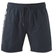Crosshatch Men's Jennis Logo Swim Shorts - Total Eclipse