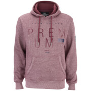 Smith & Jones Men's Loggetta Logo Hoody - Tawny Port Marl