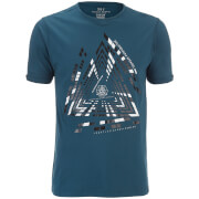 T-Shirt Imafonte Triangle Smith & Jones -Bleu Canard
