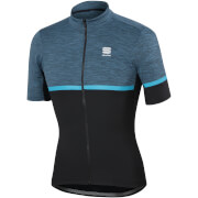 Sportful Giara Jersey - Blue Denim/Black/Blue