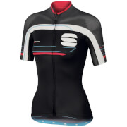 Sportful Women's Gruppetto Pro Short Sleeve Jersey - Black/Grey/Pink