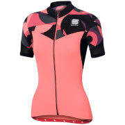 Sportful Women's Primavera Short Sleeve Jersey - Pink/Black