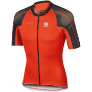 Sportful BodyFit SpeedSkin Short Sleeve Jersey - Red/Black