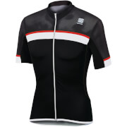 Sportful Pista Jersey - Black/White/Red