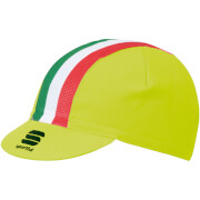 Sportful Italia Cap - Yellow Fluo/Tricolore